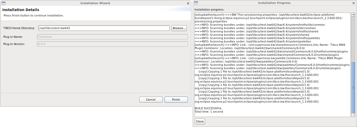 Universal installer GUI.